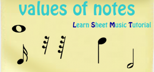 values of musical notes and pauses