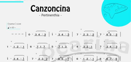 canzoncina numerical score