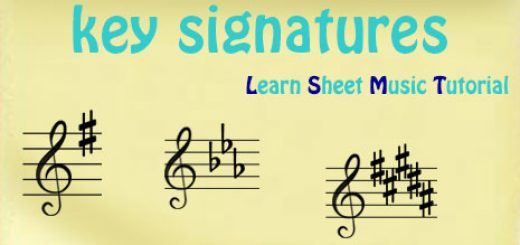 key signatures thumb